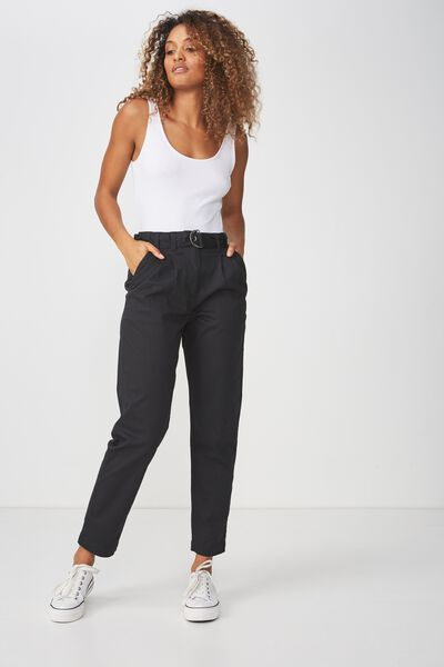 Ashley Belted Chino, BLACK