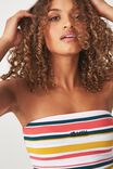 Tbar Elle Strapless Tube Top, ST LUCIA/MULTI STRIPE