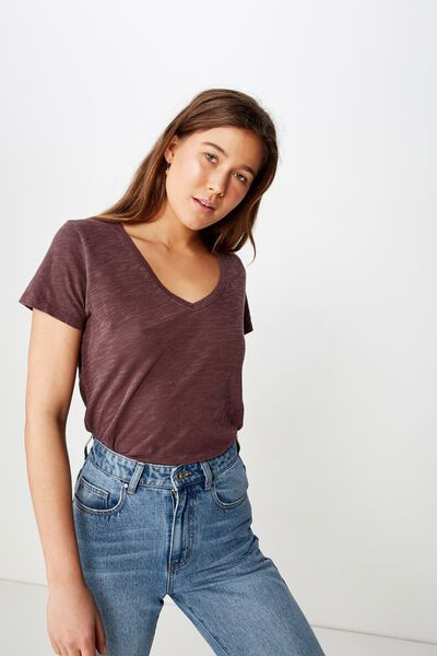 The Deep V, WASHED BITTER CHOCOLATE