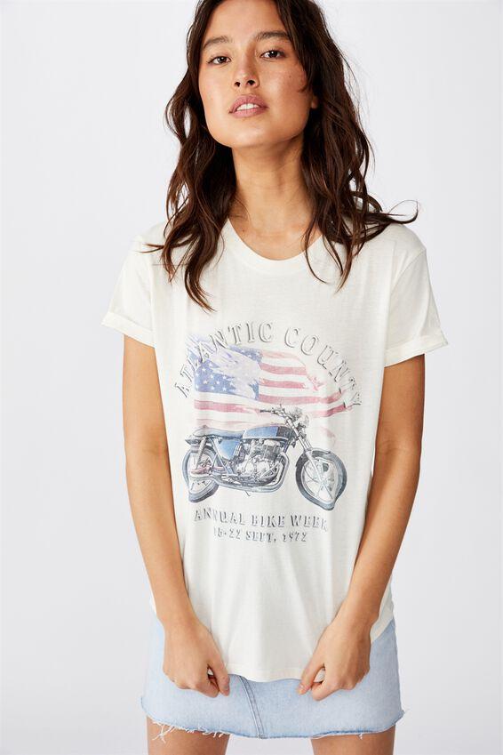 Classic Vintage T Shirt, BIKE WEEK GARDENIA