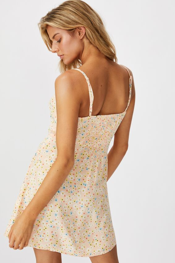 Woven Kendall Mini Dress, LILY DITSY NEO CANTELOPE