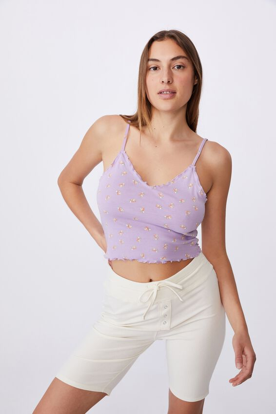Luca Lettuce Edge Cami, ARABELLA FLORAL FROSTY LILAC