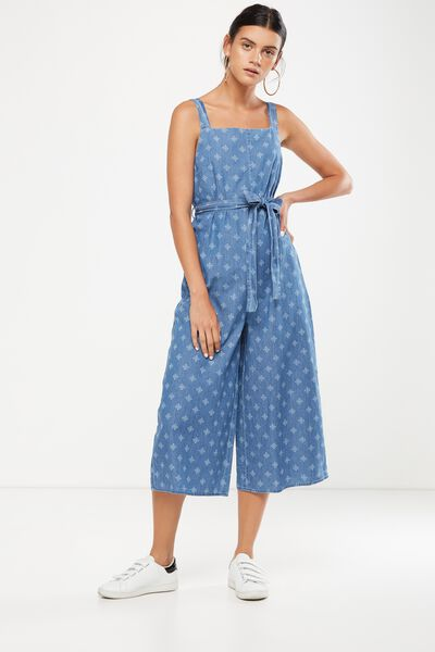 Woven Jessie Culotte Jumpsuit, KATE DITSY CHAMBRAY