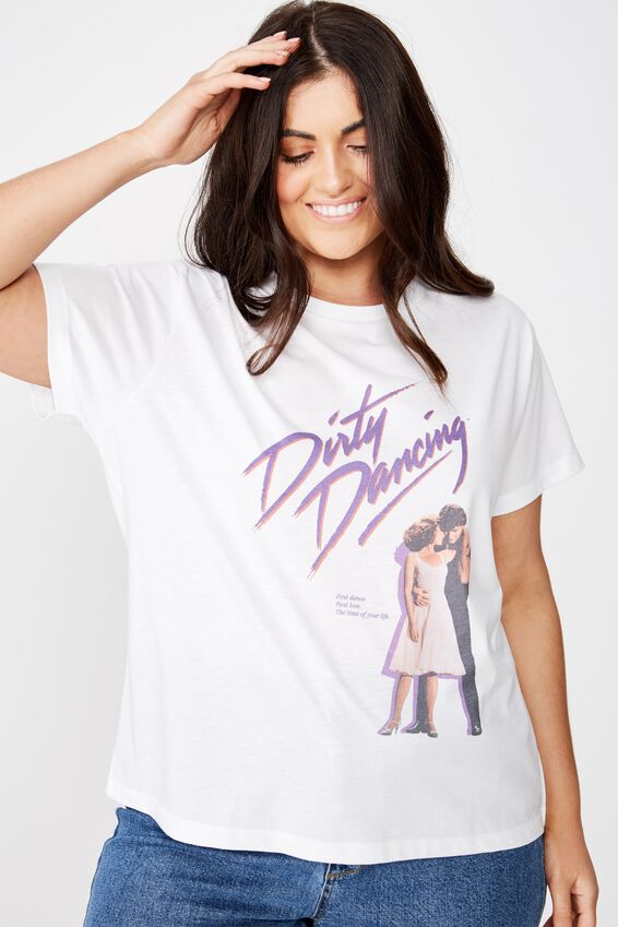 Curve Graphic License Tee, LCN LG DIRTY DANCING POSTER/WHITE