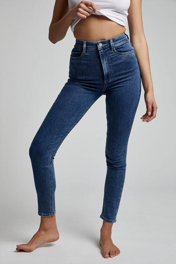 Ultra High Super Stretch Jean, COOGEE BLUE POCKETS