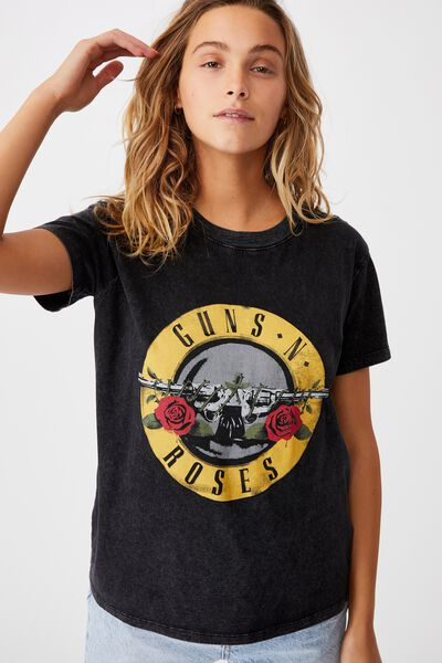 Classic Guns N Roses T Shirt, LCN BR GUNS N ROSES SEAL/BLACK