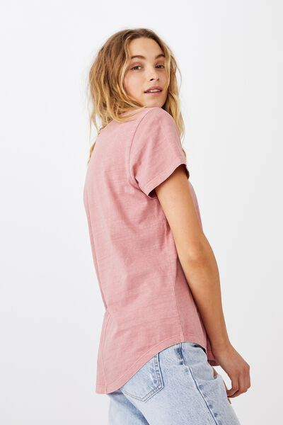The One Crew Tee, WASHED DARK MAUVE