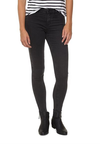 Mid Rise Jegging, WASHED BLACK
