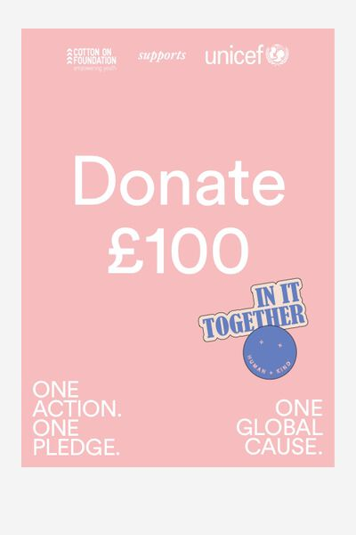 Donation - Cotton On Foundation supports UNICEF, FOUNDATION X UNICEF DONATION