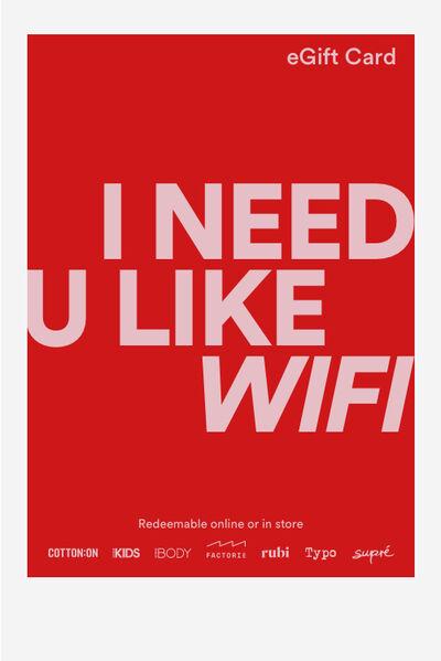 eGift Card, Cotton On Valentine Wifi