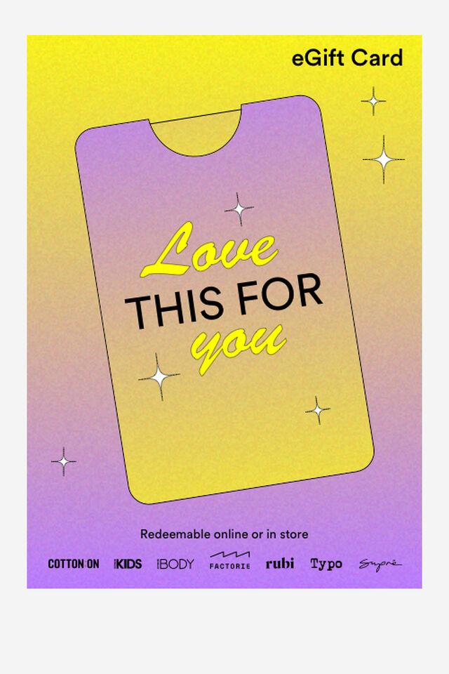 eGift Card, Love This