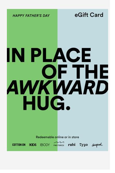 eGift Card, Fathers Day Awkward Hug