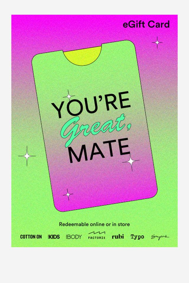 eGift Card, Great Mate