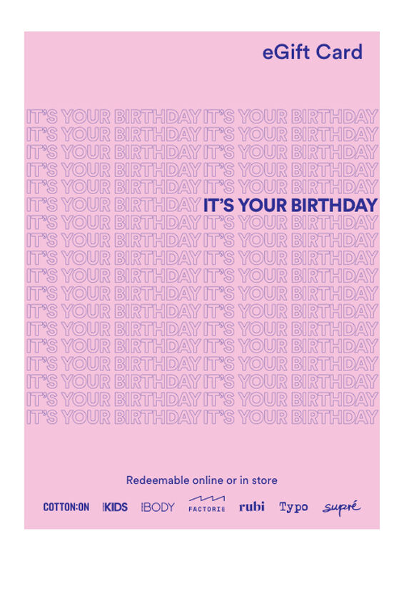 eGift Card, Cotton On Happy Birthday