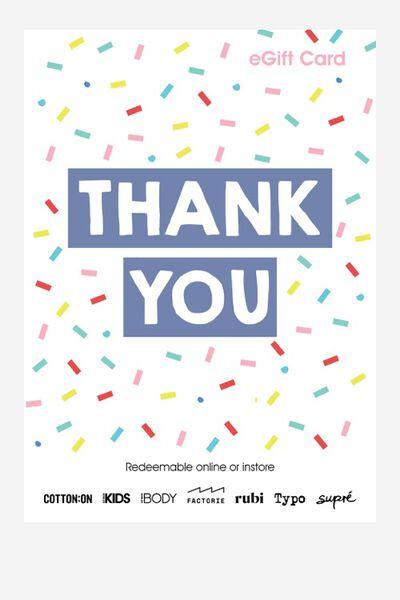 eGift Card, Cotton On Kids Thank You