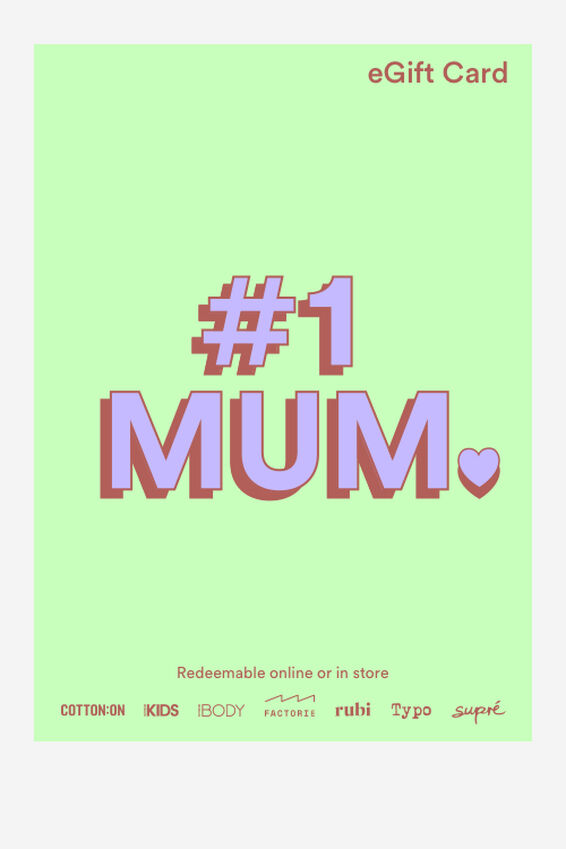 eGift Card, Cotton On Number One Mum