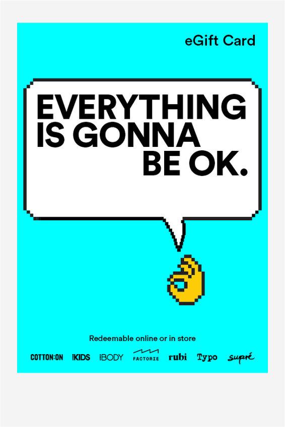 eGift Card, Cotton On Everyday Everything OK