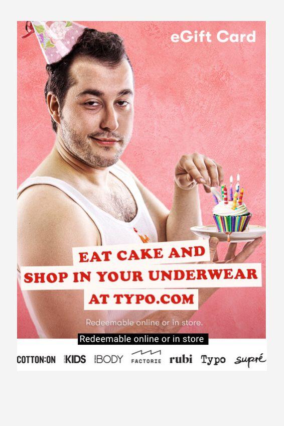 eGift Card, Typo Birthday