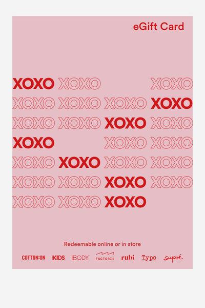 eGift Card, Cotton On Valentine XOXO