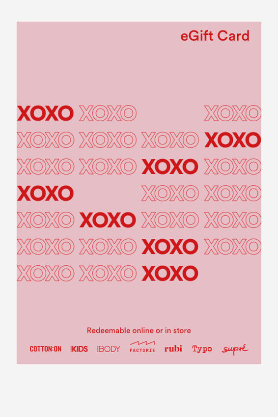 eGift Card, Cotton On Valentine XOXO