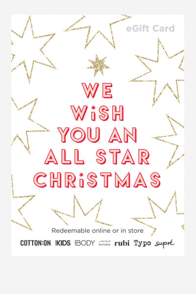 eGift Card, Cotton On Kids All Star Christmas