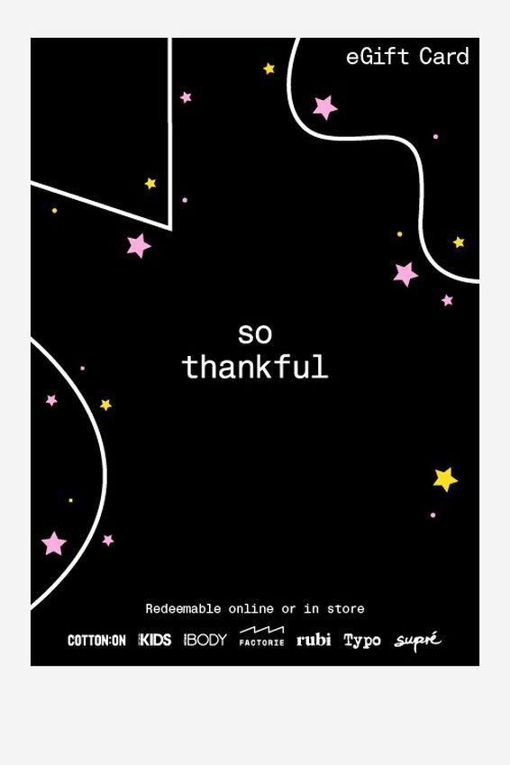 eGift Card, Factorie Thank You