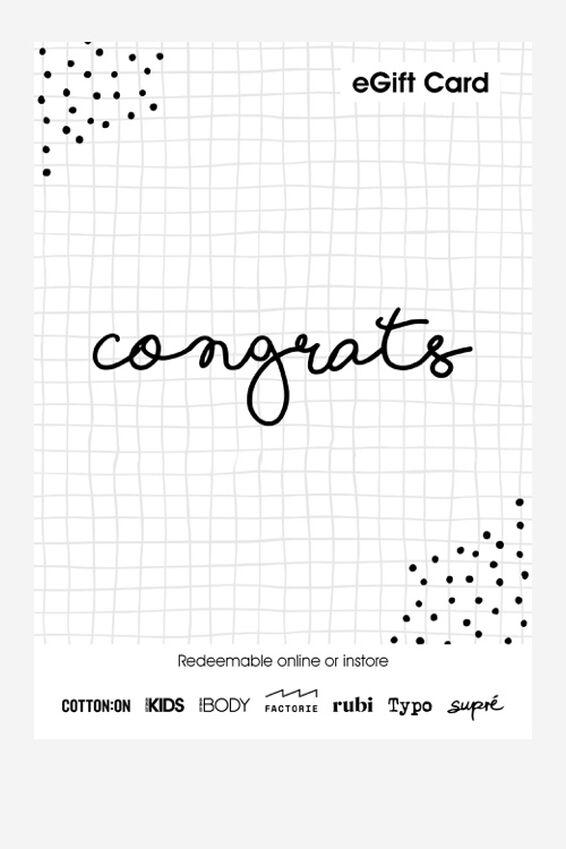eGift Card, Cotton On Kids Congratulations