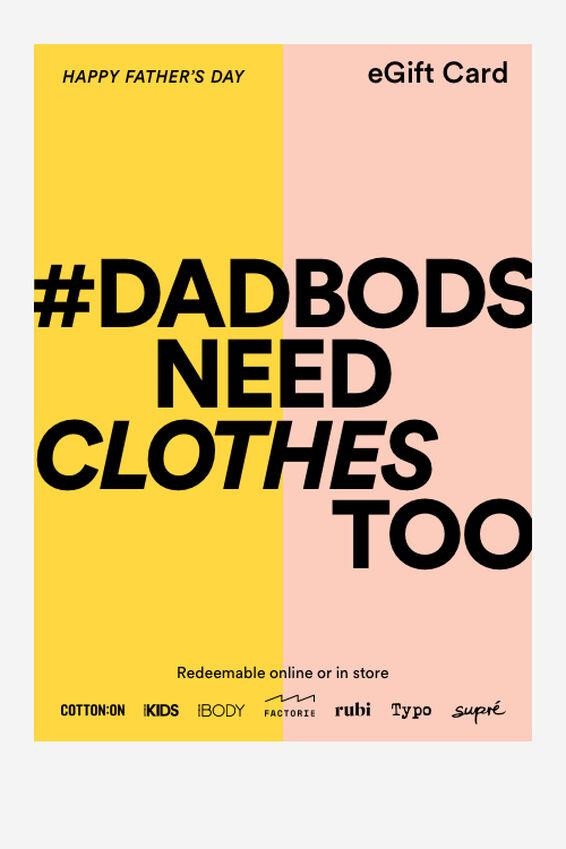 eGift Card, Fathers Day Dadbod