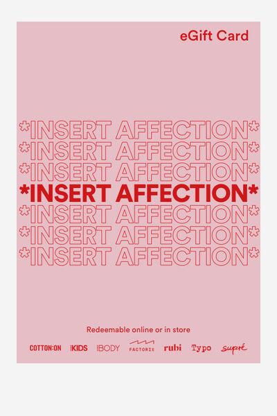 eGift Card, Cotton On Valentine Affection