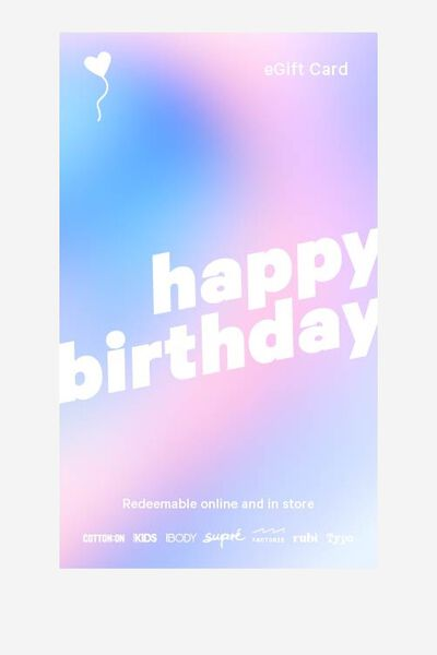 eGift Card, Supre Birthday