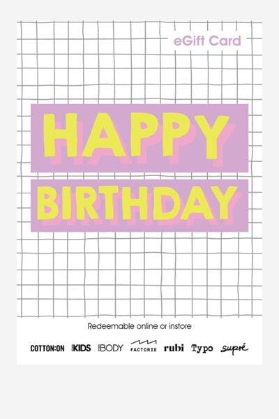 eGift Card, Cotton On Kids Birthday