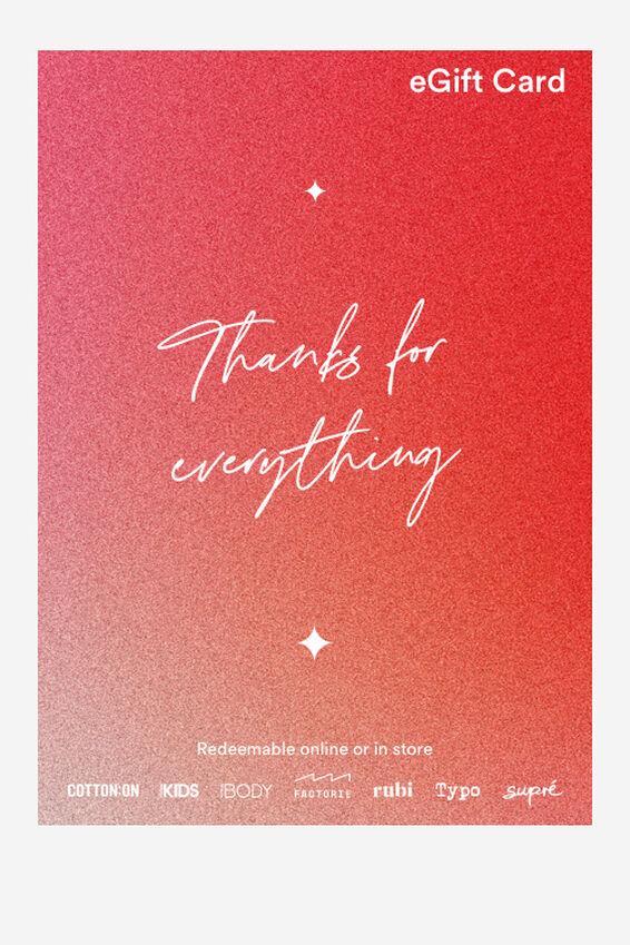 eGift Card, Cotton On Christmas Thanks