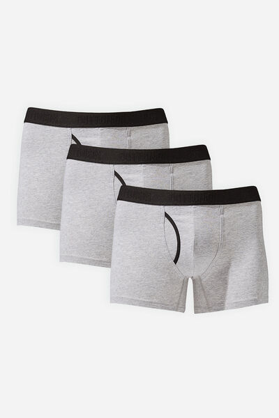 Multipack 3pk Mens Organic Cotton Trunk, Grey