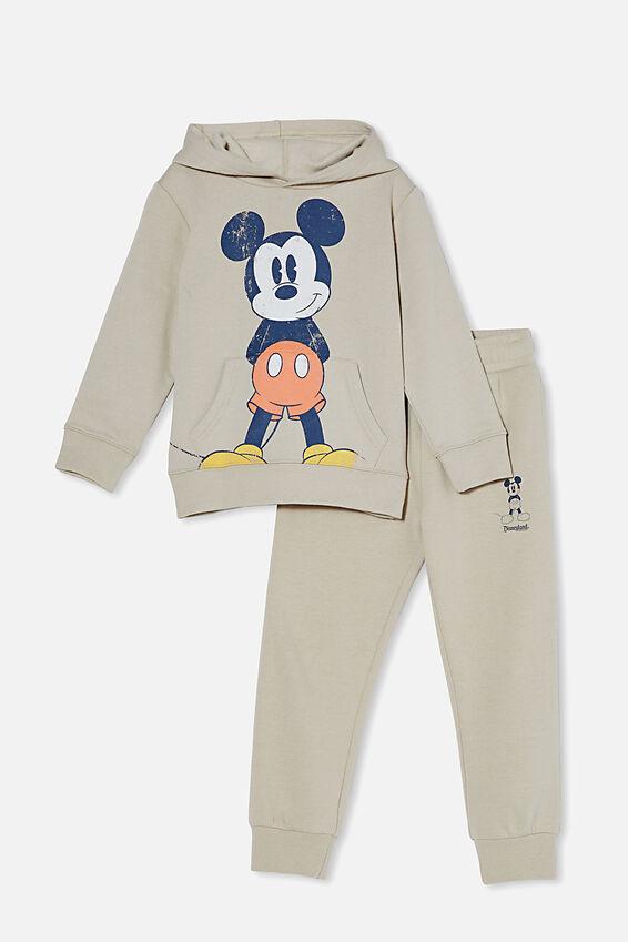 Disneyland Hoodie and Trackpant Bundle, Rainy Day/ Vintage Mickey