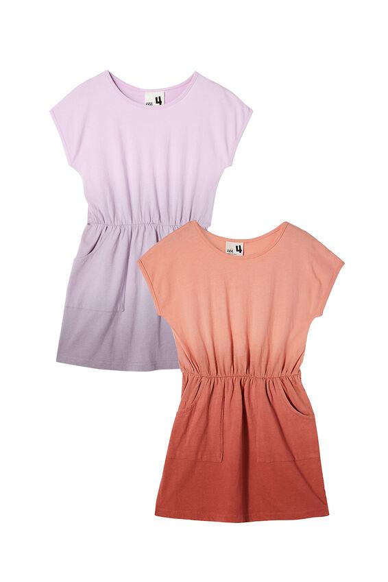 2 Pack Girls Dresses, Dip Dye Sigrid