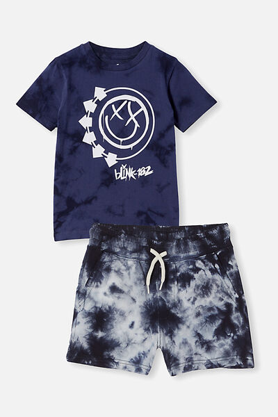 Boys Tee and Short Bundle, Blink 182/Indian Ink