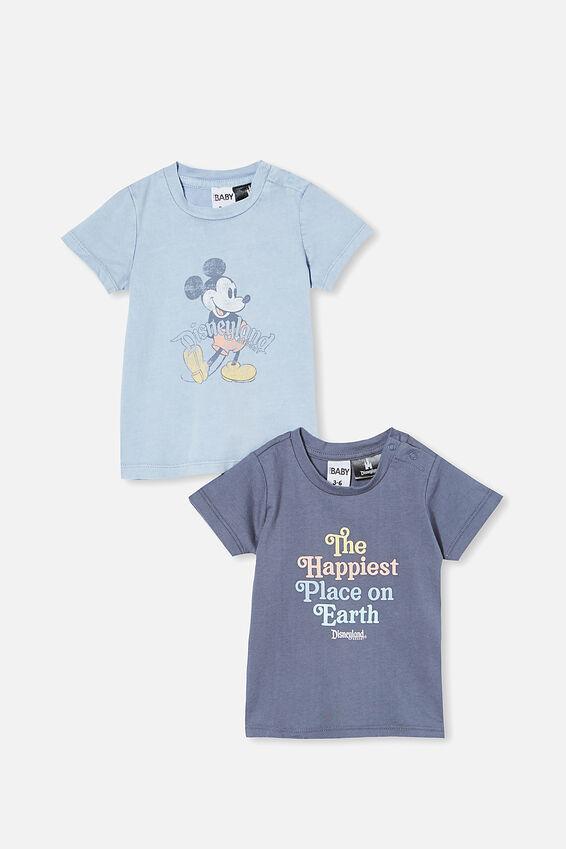 Disneyland Jamie Tee Bundle, Lcn Dis Happiest Place/ Vintage Mickey