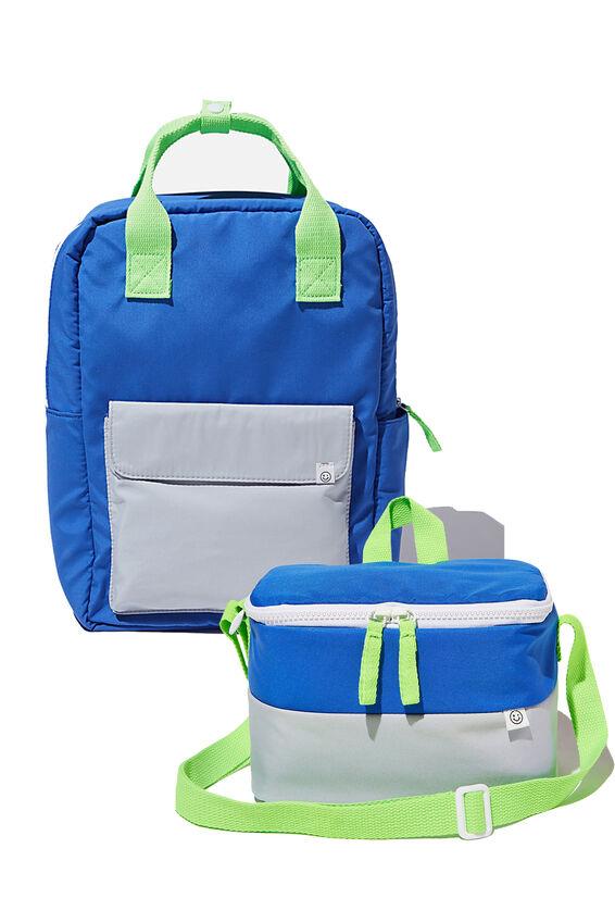 Back to School Bundle, Retro Blue/Grey