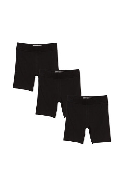 Girls Bike Short Bundle, Basic Black Pack