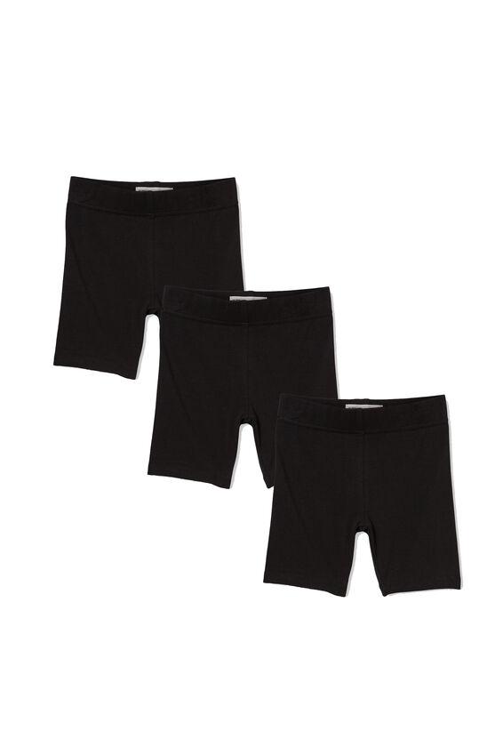 Girls Bike Short Bundle, Basic Black Pack