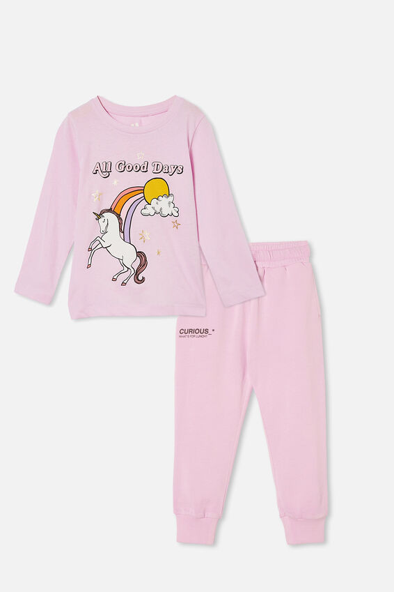Long Sleeve Tee and Trackpant Bundle, Pale Violet
