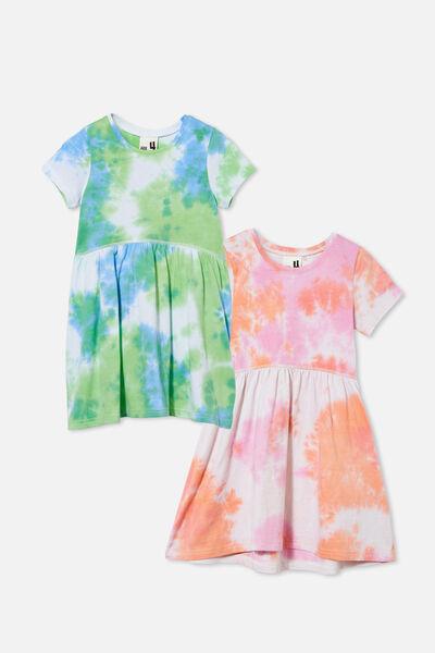 2 Pack Girls Dresses, Tie Dye