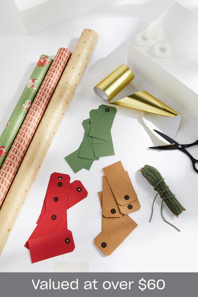 Naughty Santa Christmas Wrap Bundle, Naughty Santa Christmas Wrap Bundle