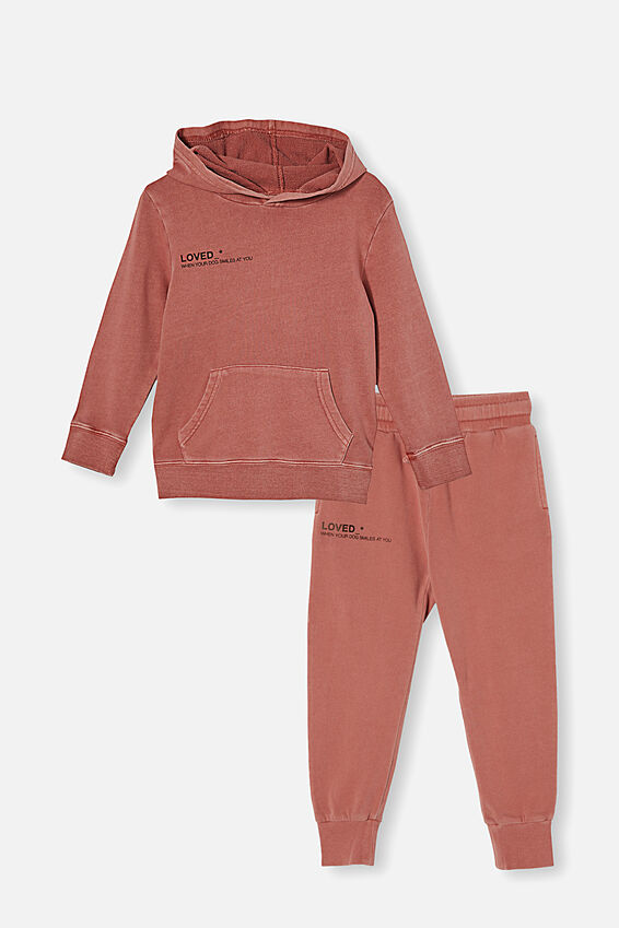 Hoodie and Trackpant Bundle, Chutney/Loved