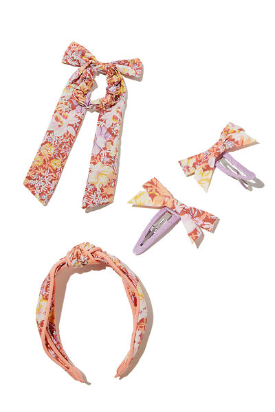 Hair Accessories Bundle, Grandma Floral