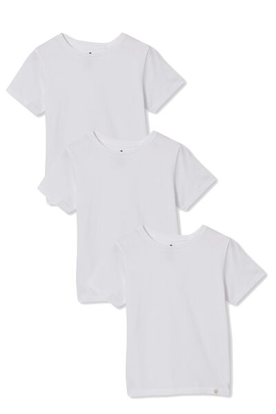3 Pack Kids Core Tee, Core White