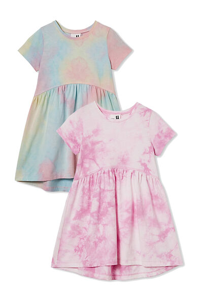 2 Pack Girls Dresses, Tie Dye Freya