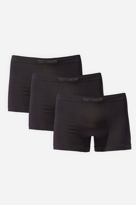 Multipack 3pk Mens Seamless Trunk, Black