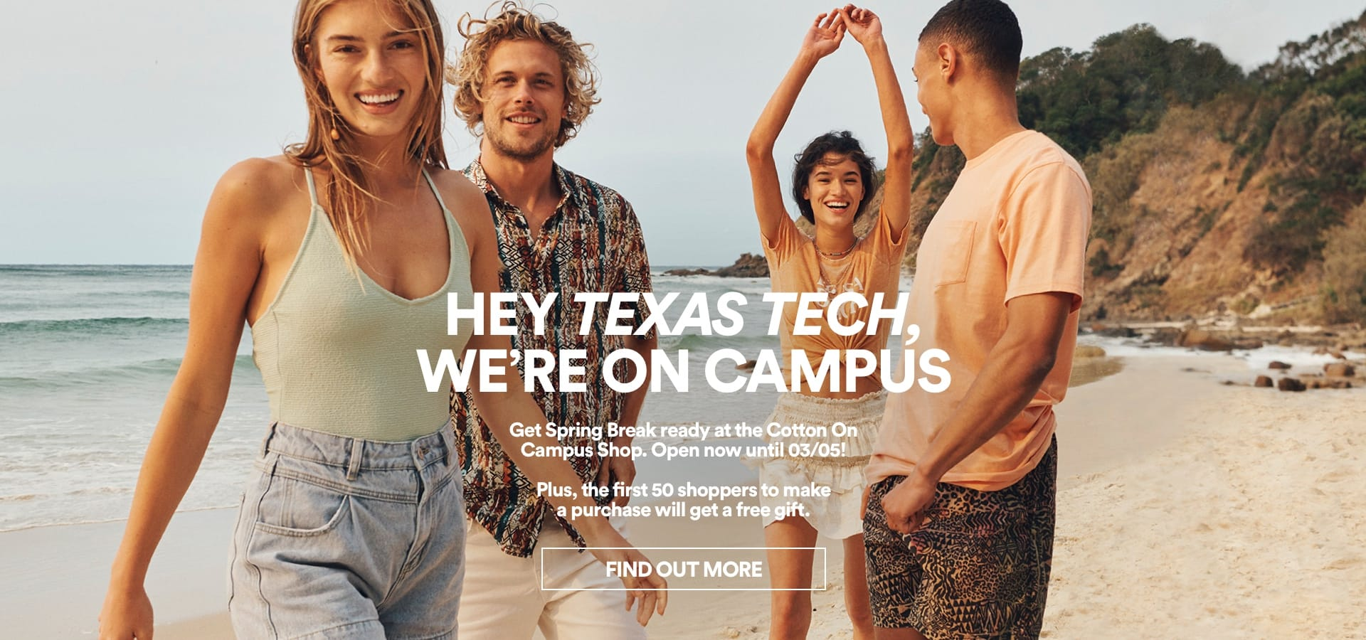 Texas Tech, We're On Campus. Find Out More