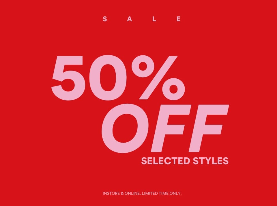 50 percent Sale Cotton On. Click to shop.